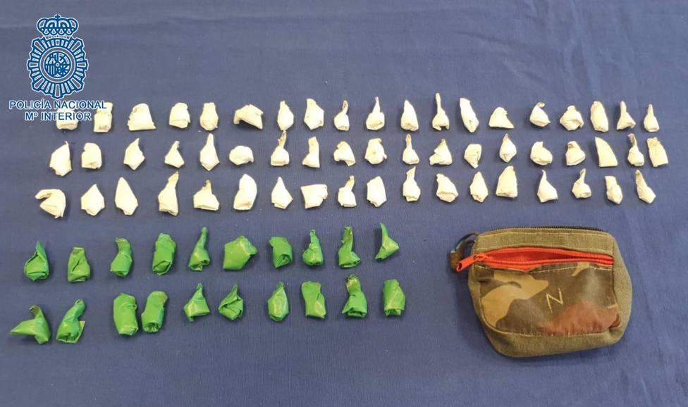 Detenido en Jerez con 56 envoltorios de heroína y 20 de rebujito