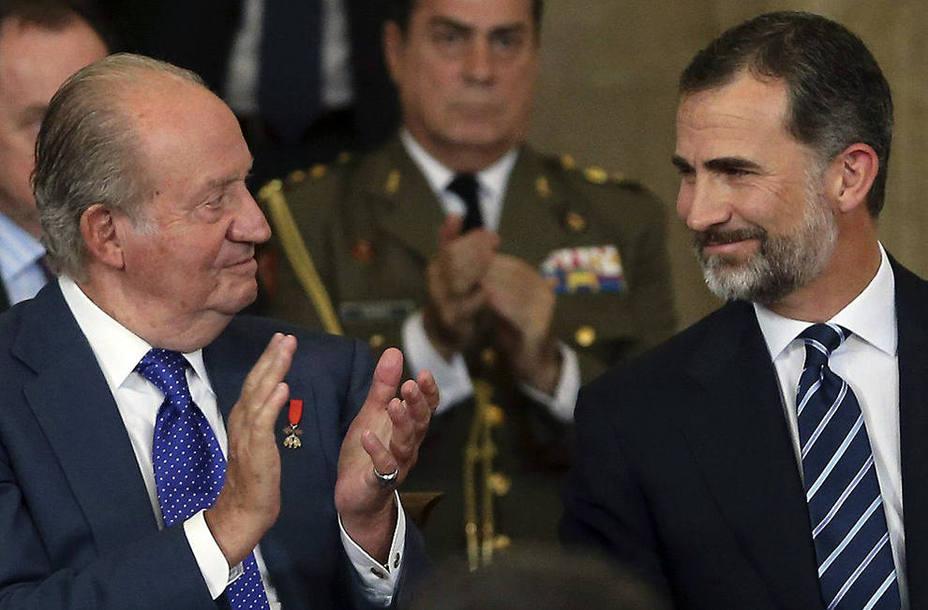 Los reyes Felipe y Juan Carlos presiden este lunes un acto sobre la Constitución