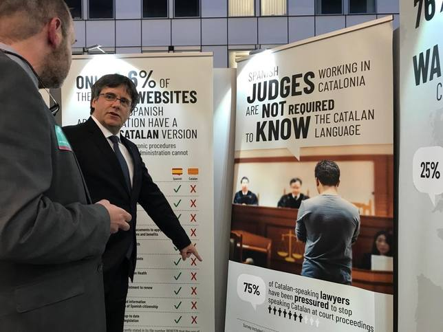Puigdemont tendría que acatar la Constitución en Madrid antes de recibir el acta de eurodiputado y gozar de inmunidad
