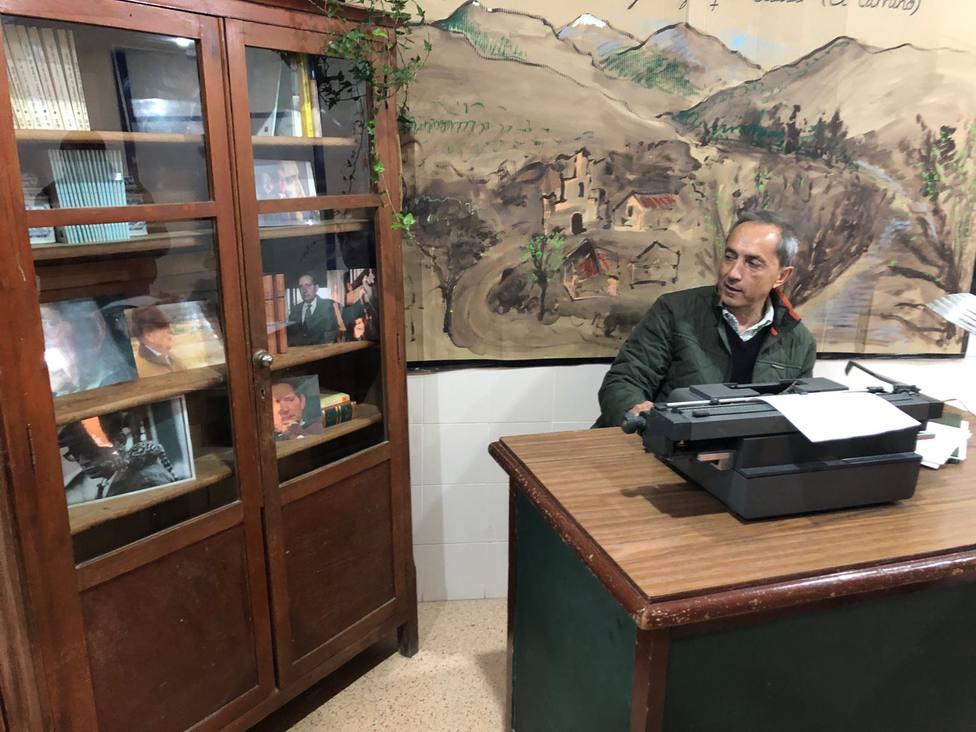 Germán Delibes ha recorrido la recreación de Escolapios Soria en torno a la figura de su padre, Miguel Delibes