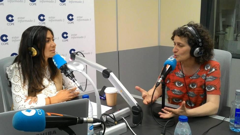 Goretti Sanmartín, en los micrófonos de COPE Más Santiago