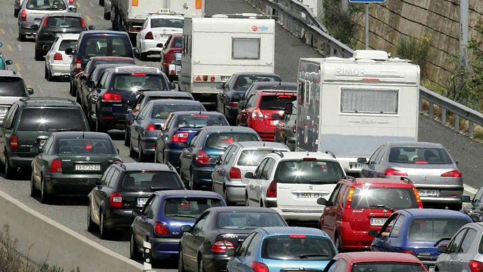 Retenciones en la carretera en la Operación Salida