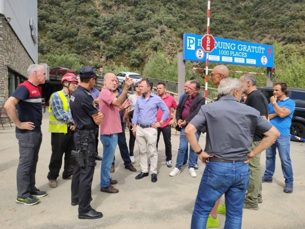 Camiones y buses podrán circular mañana por la frontera de Andorra y España tras el desprendimiento