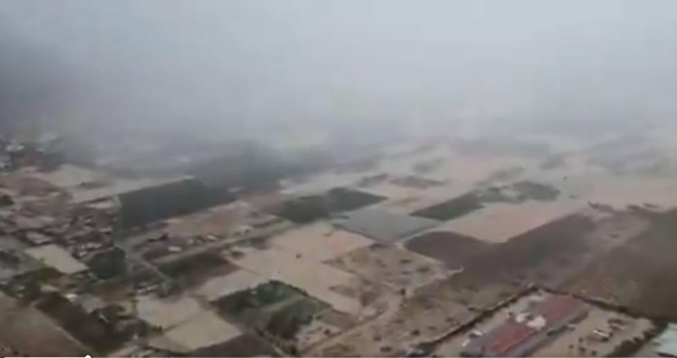 Vistas aereas de las inundaciones de Orihuela