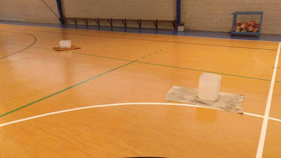 Interior del pabellón de la Casa del Deporte, en el barrio de Caranza de Ferrol - FOTO: Cedida