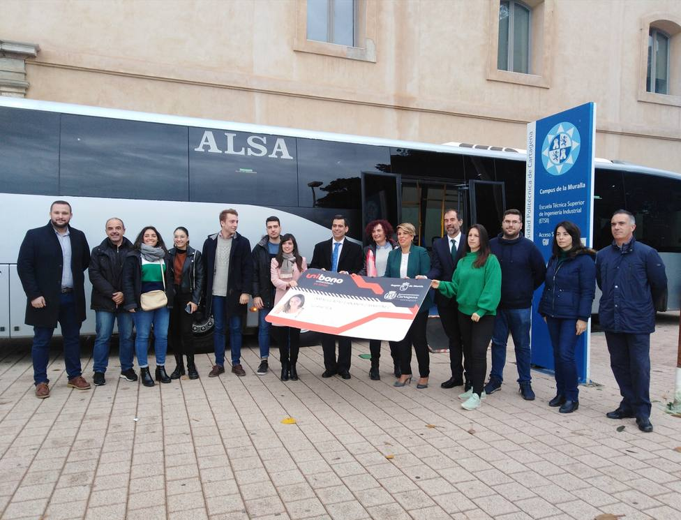 La línea de bus que une Cartagena con El Algar se incorpora al Unibono universitario