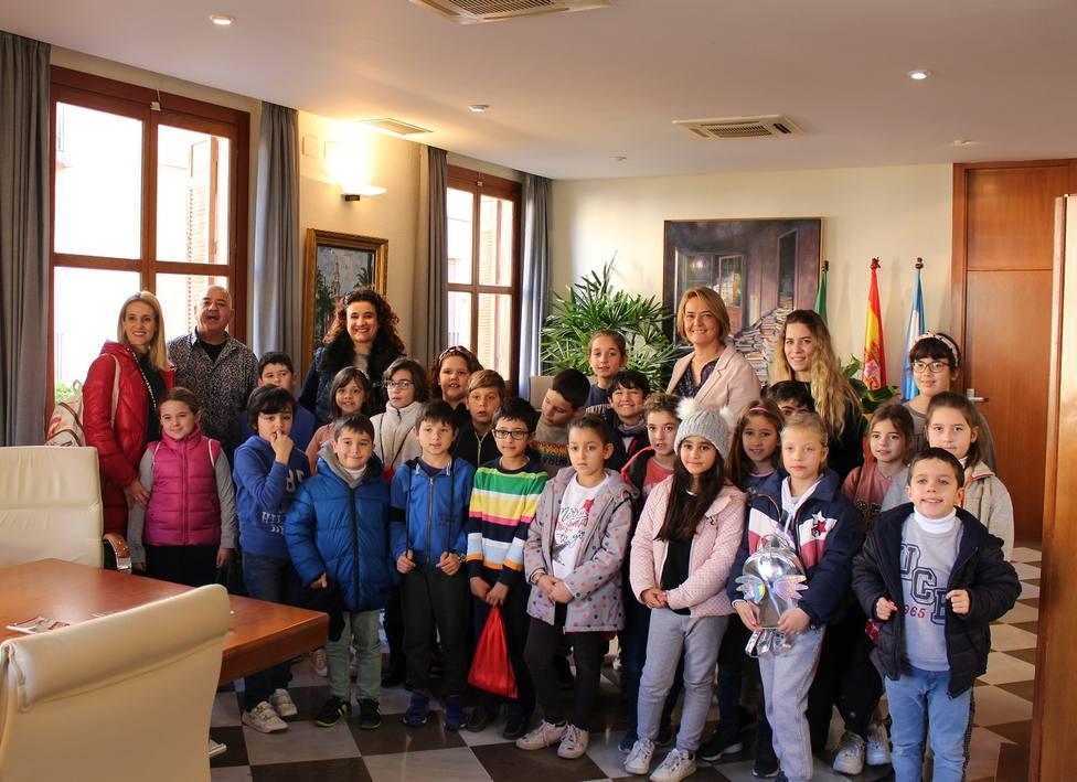 Visita al Ayto. de Motril de alumnos del Cardenal Belluga