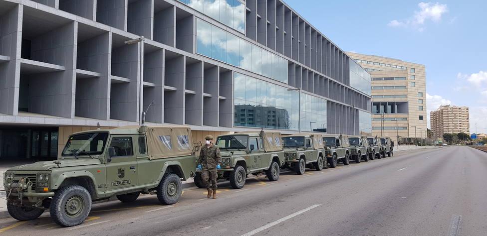 Los militares convierten el Palma Bay en un hotel medicalizado para pacientes con Covid-19