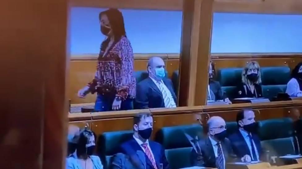 Vox crítica el lugar que han designado para su diputada en el parlamento vasco