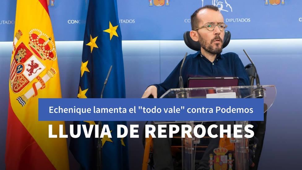 El lamento de Echenique por el todo vale contra Podemos que no tardan en reprocharle