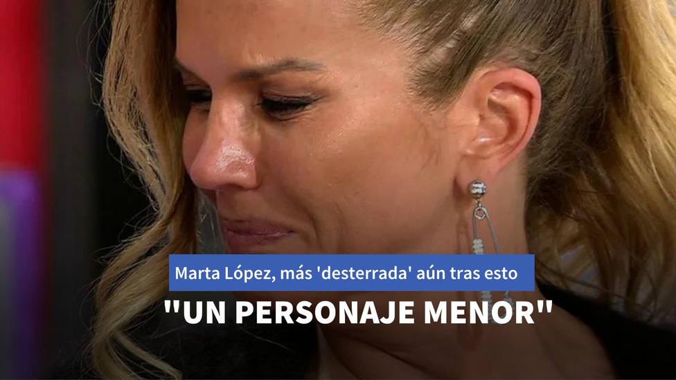 Marta López, más 'desterrada' aún tras esta crítica: Un personaje menor