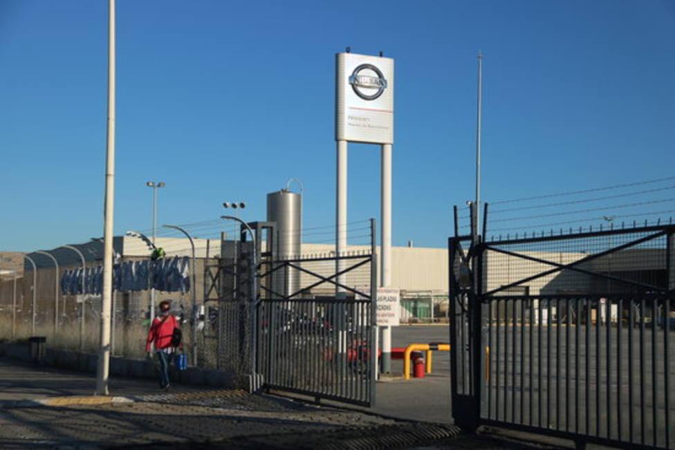 Entrada de la planta de Nissan de la Zona Franca
