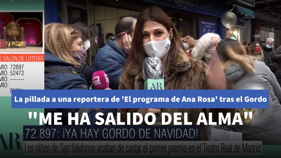 La pillada a una reportera de El programa de Ana Rosa tras el Gordo: Me ha salido del alma