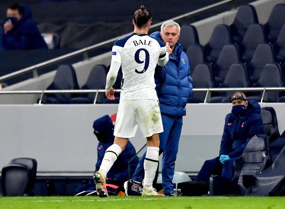 Gareth Bale y José Mourinho