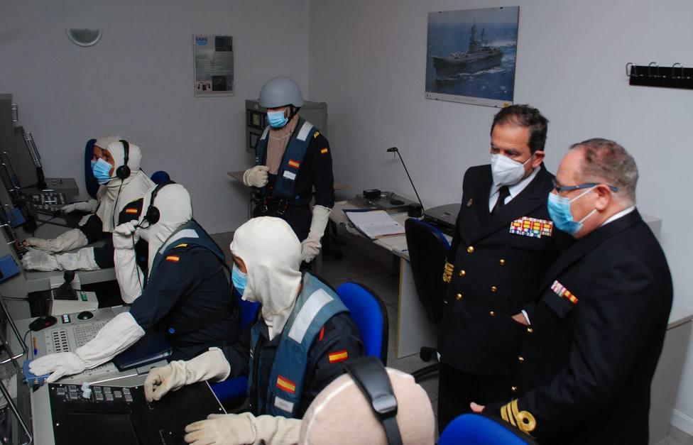 Concluye la visita oficial del almirante de la Flota a las unidades de la Armada en Cartagena