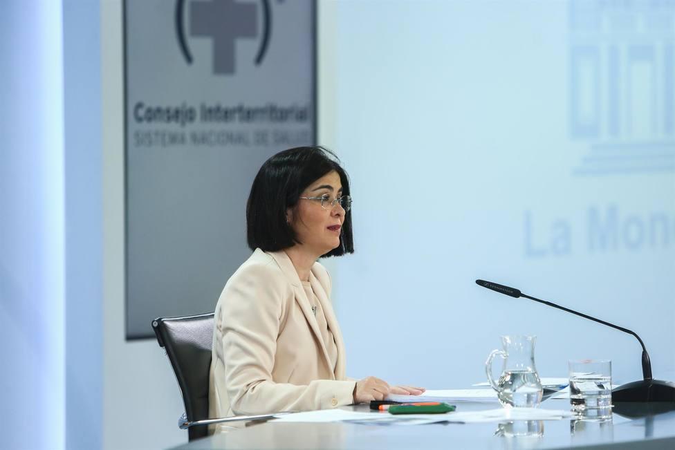 La ministra de Sanidad Carolina Darias - Europa Press - Archivo