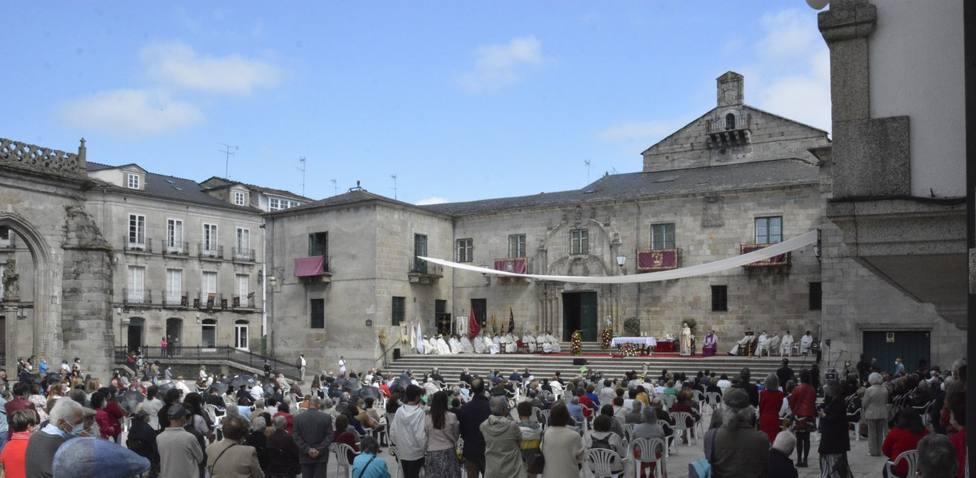 Celebración del Corpus en la Praza de Santa María