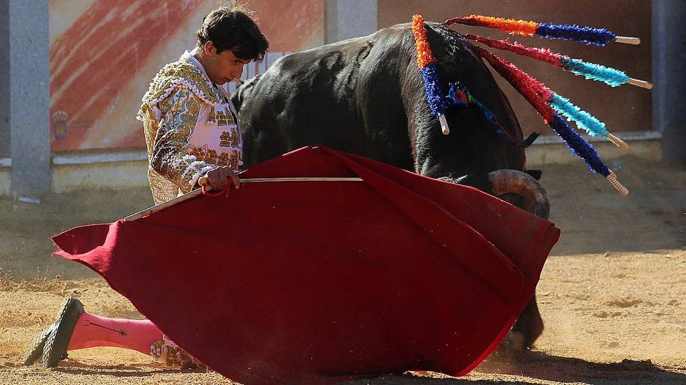 Antonio Grande durante su actuación en Guijuelo este domingo