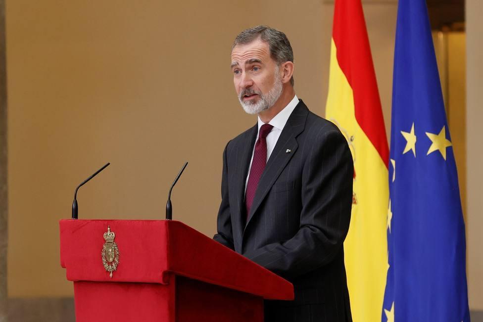 El Rey recibe en la Zarzuela al nuevo presidente del Senado, Ander Gil
