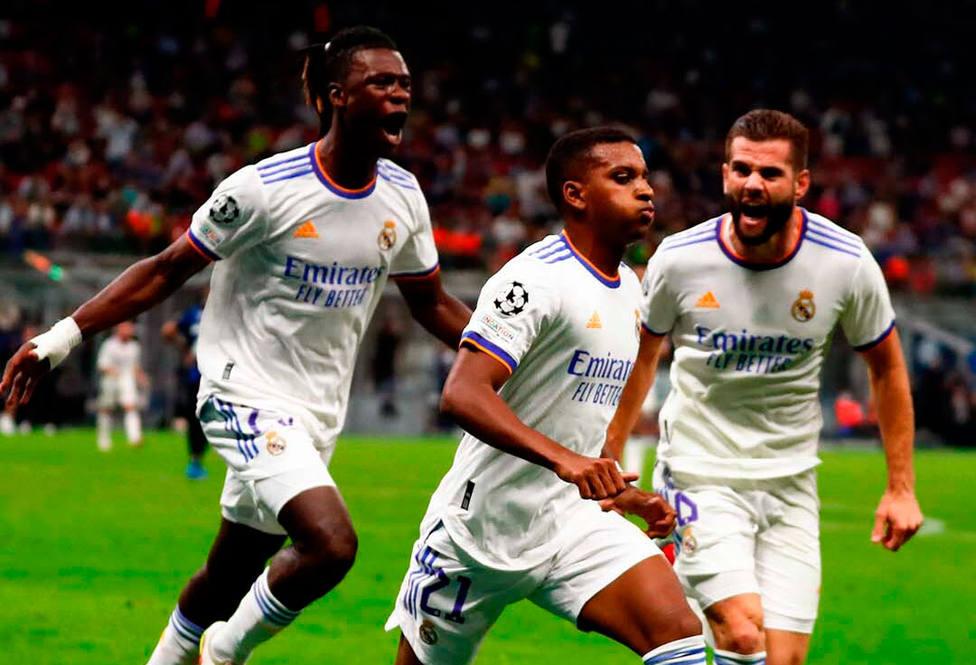 Rodrygo celebra el gol de la victoria ante el Inter (@Realmadrid)
