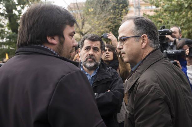 Jordi Sànchez y Jordi Turull