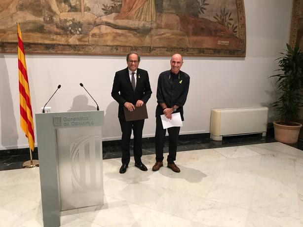 Torra nombra a cuatro nuevos miembros del consejo asesor del Fórum Constituyente, que preside Lluís Llach
