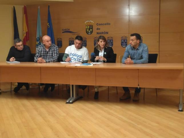 Rueda de prensa tras la reunión de trabajo en el Ayuntamiento de Narón