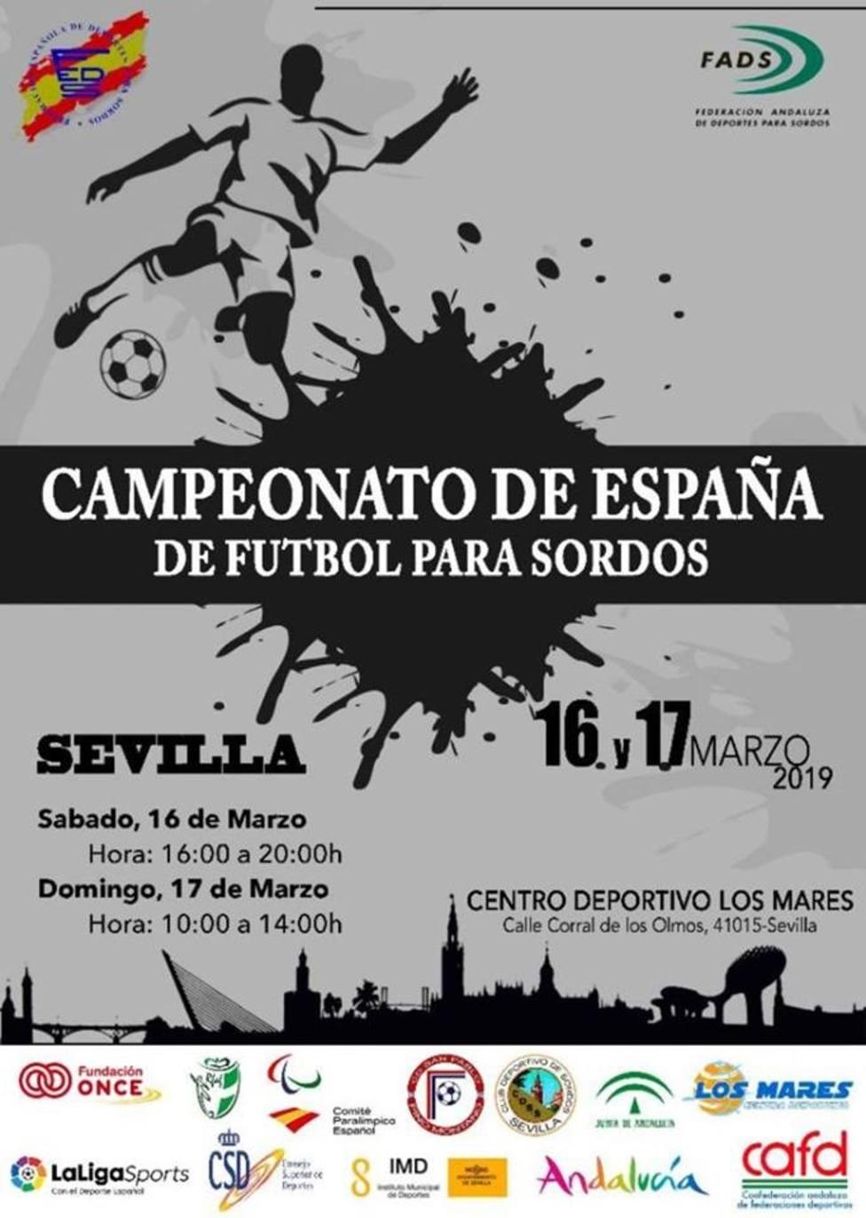 Sevilla acoge este fin de semana el Campeonato de España de Fútbol para Sordos