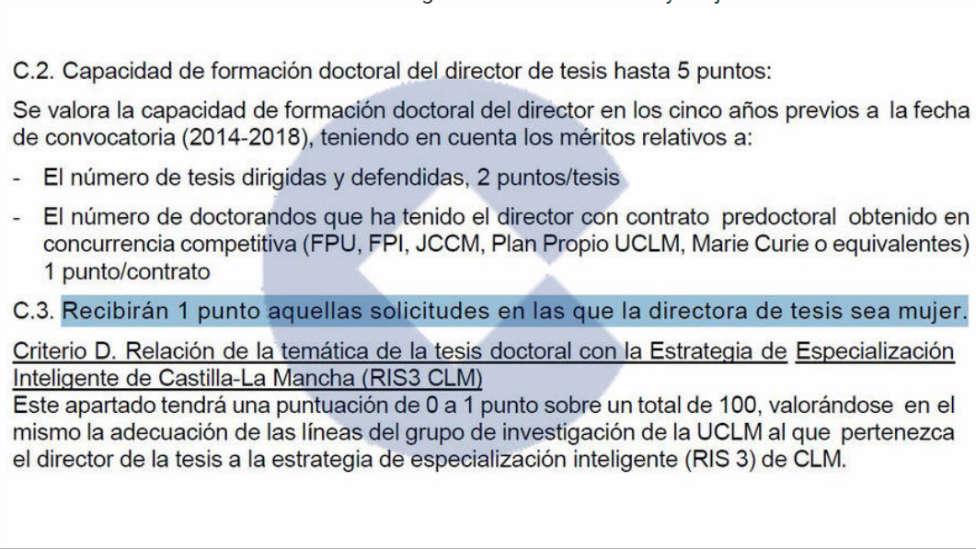 La Universidad de Castilla-La Mancha regalará un punto extra a las tesis dirigidas por mujeres