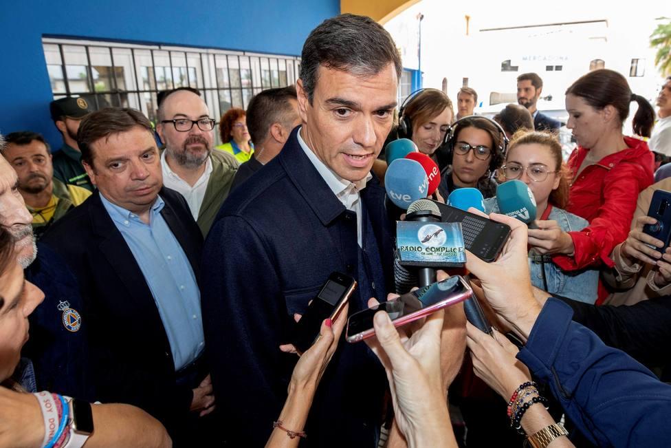 El error tuitero de Sánchez sobre la gota fría que ha provocado críticas en redes sociales
