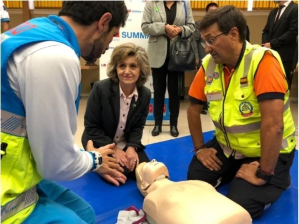 Carcedo destaca la importancia de aprender reanimación cardiopulmonar para poder salvar vidas