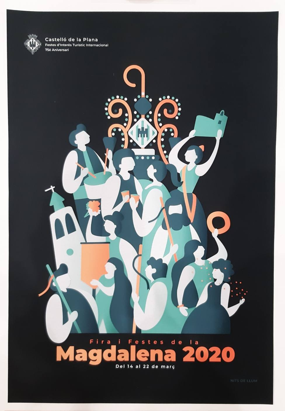 Cartel anunciador de las Fiestas de la Magdalena 2020