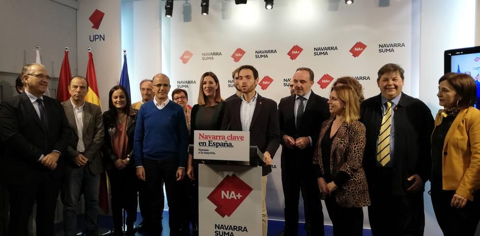 Navarra Suma es la fuerza más votada en Navarra y el PSN pierde un escaño