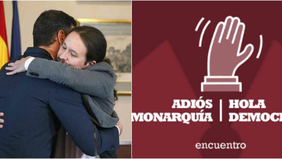 Podemos anima a sus inscritos a ir a un acto contra la monarquía en medio de las negociaciones con el PSOE