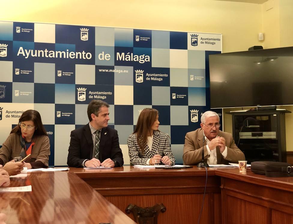 Concejales del Ayuntamiento en sala de prensa
