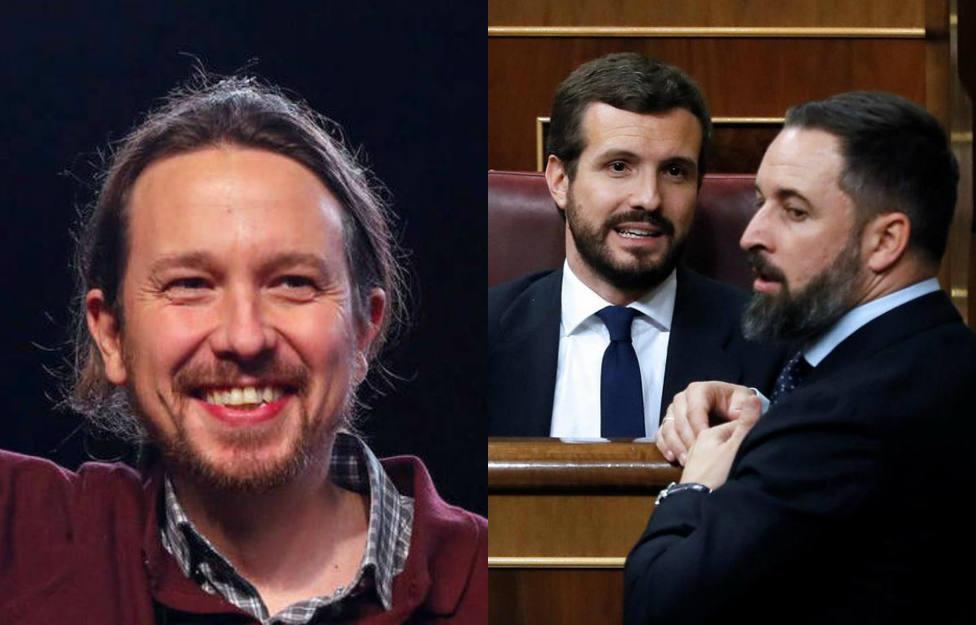 Pablo Iglesias se burla de los mensajes cruzados entre el PP y Vox