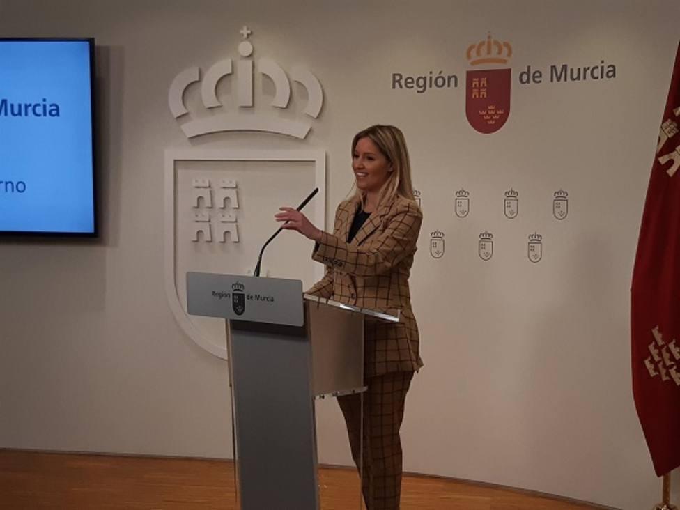 Ana Martínez Vidal, portavoz del Gobierno Regional