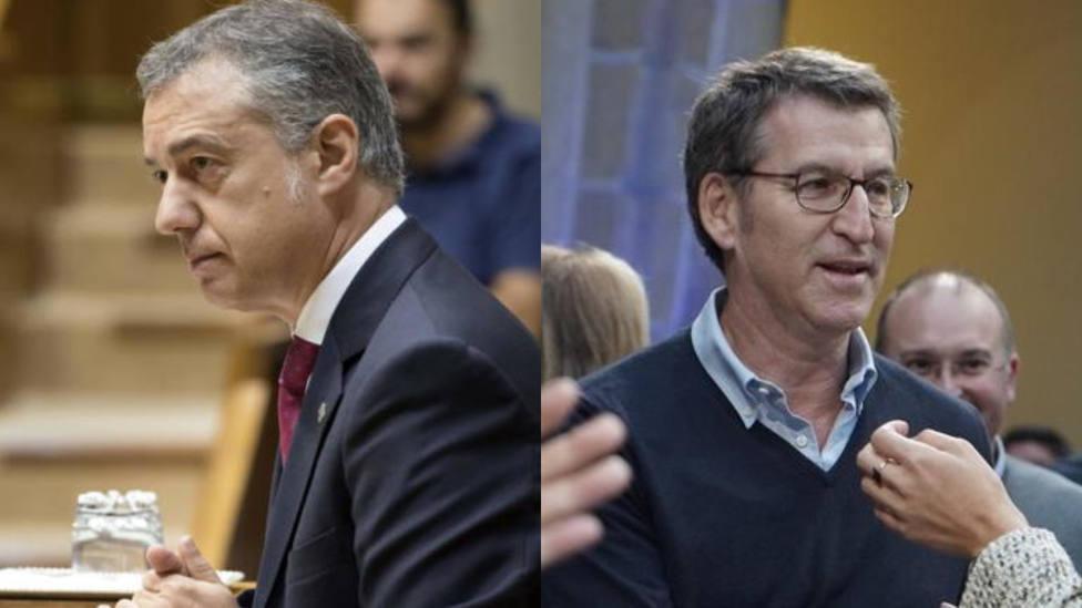 Urkullu y Feijóo adelantan las elecciones autonómicas en el País Vasco y Galicia para el día 5 de abril