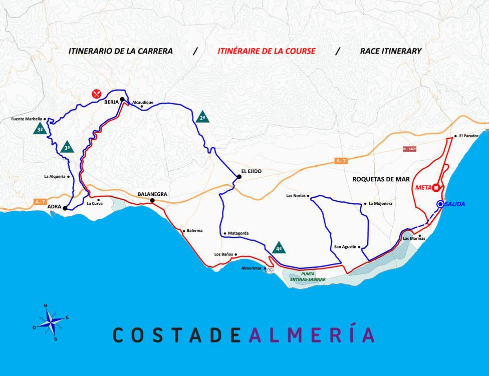 Plano de la Clásica Ciclista de Almería