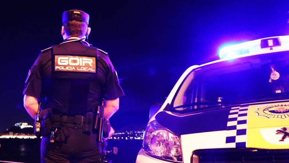 Dipositivo de la policía local este fin de semana en Alicante (Ayuntamiento)