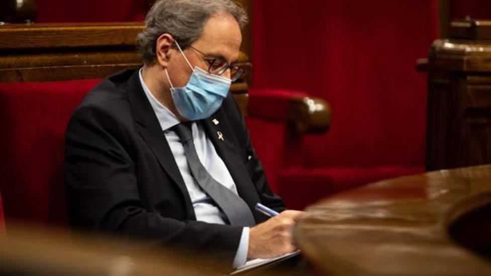 Quim Torra, en el Parlament - EP