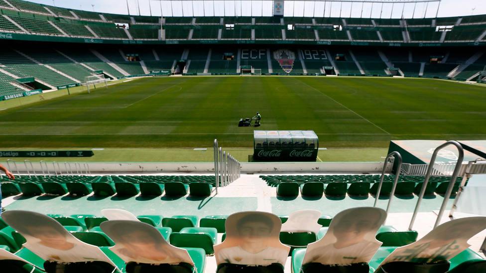Imagen del estadio Martínez Valero de Elche sin espectadores. EFE