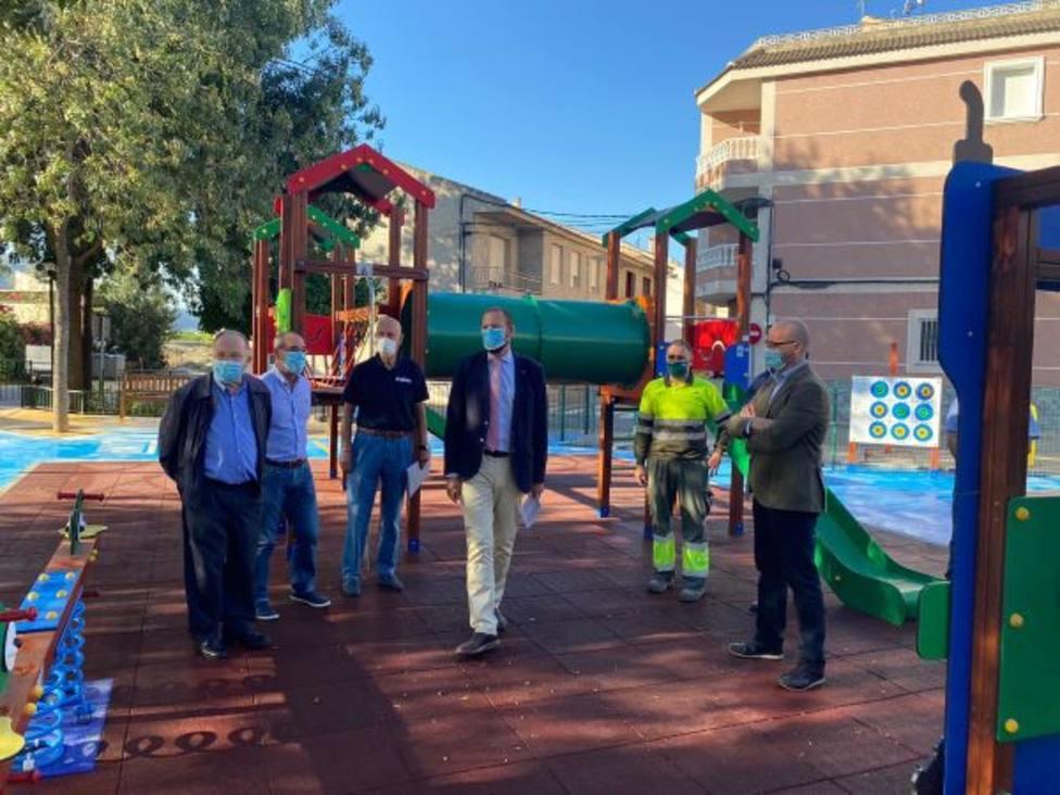 Alquerías cuenta con un nuevo playground con zona de juegos accesibles que fomentan la integración
