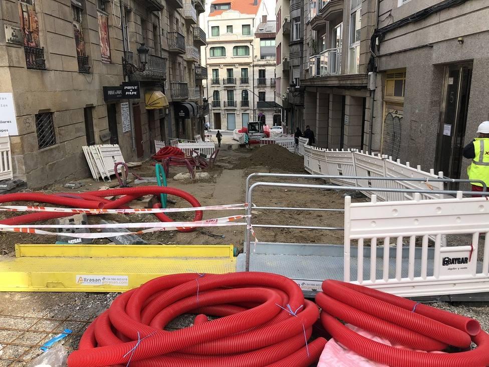 Obras en María Auxiliadora. Foto Alejandro Varela