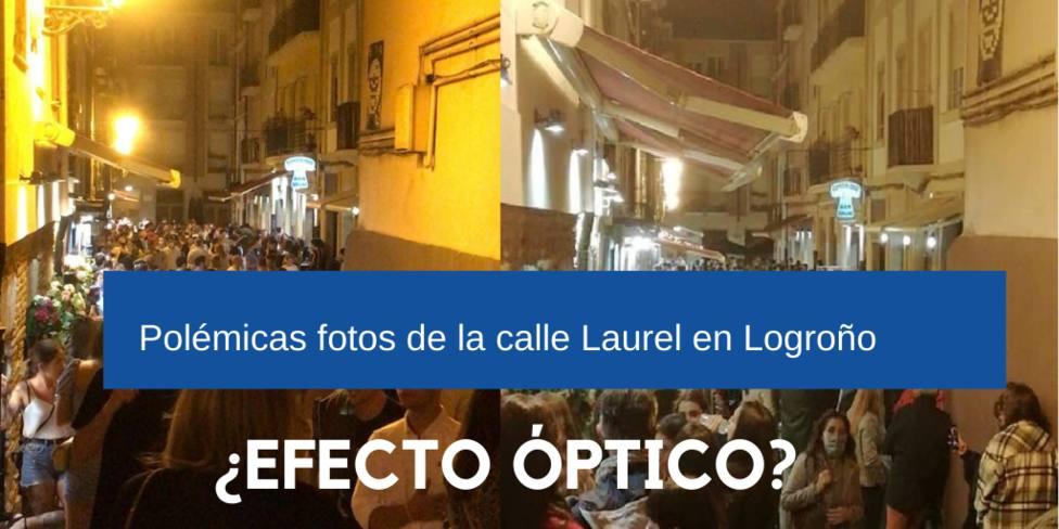 Las polémicas fotos de la calle Laurel de Logroño en pandemia: ¿Efectos ópticos?