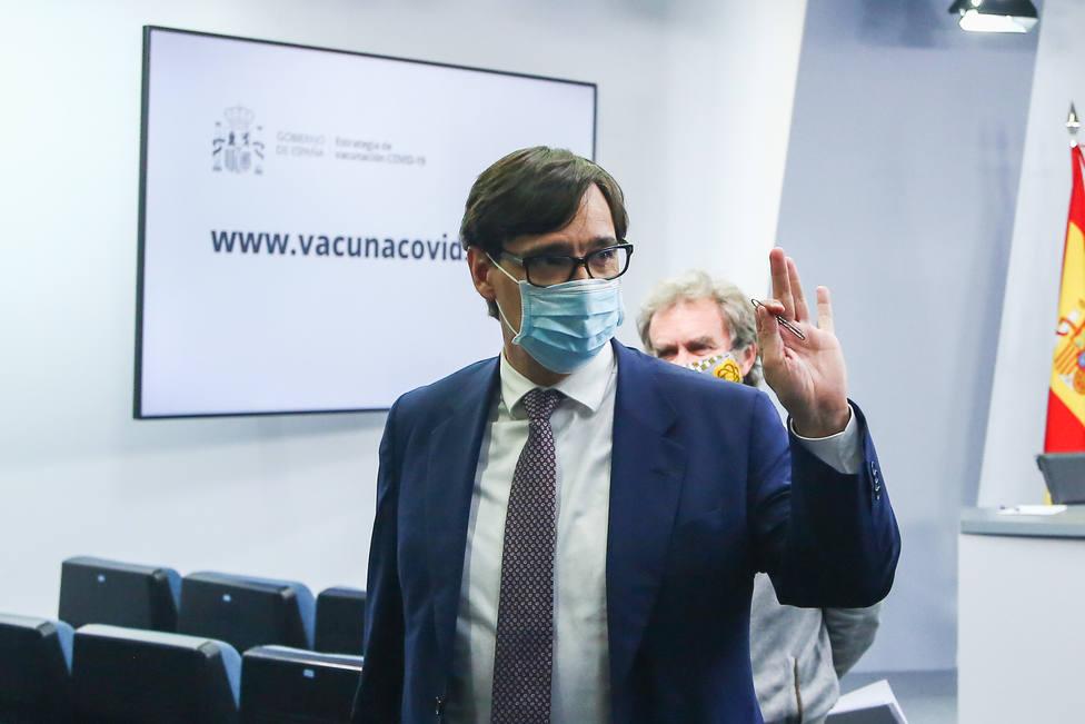 Rueda de prensa de Salvador Illa, Carolina Darias y Fernando Simón tras el Consejo Interterritorial de Salud