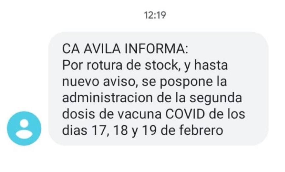 Vacunuación Ávila