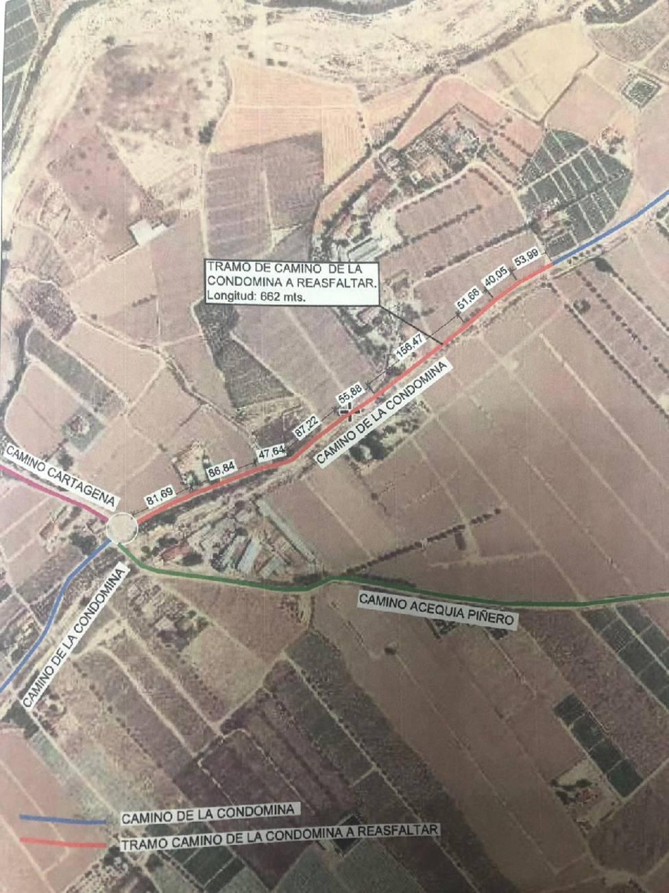 Lorca inicia la próxima semana la actuación de ensanche y mejora del Camino de la Condomina de Marchena