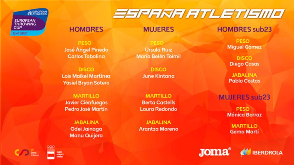 Úrsula Ruiz estará presente en la Copa de Europa de lanzamientos de Split