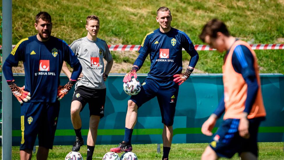 Entrenamiento de la Selección de Suecia. EFE